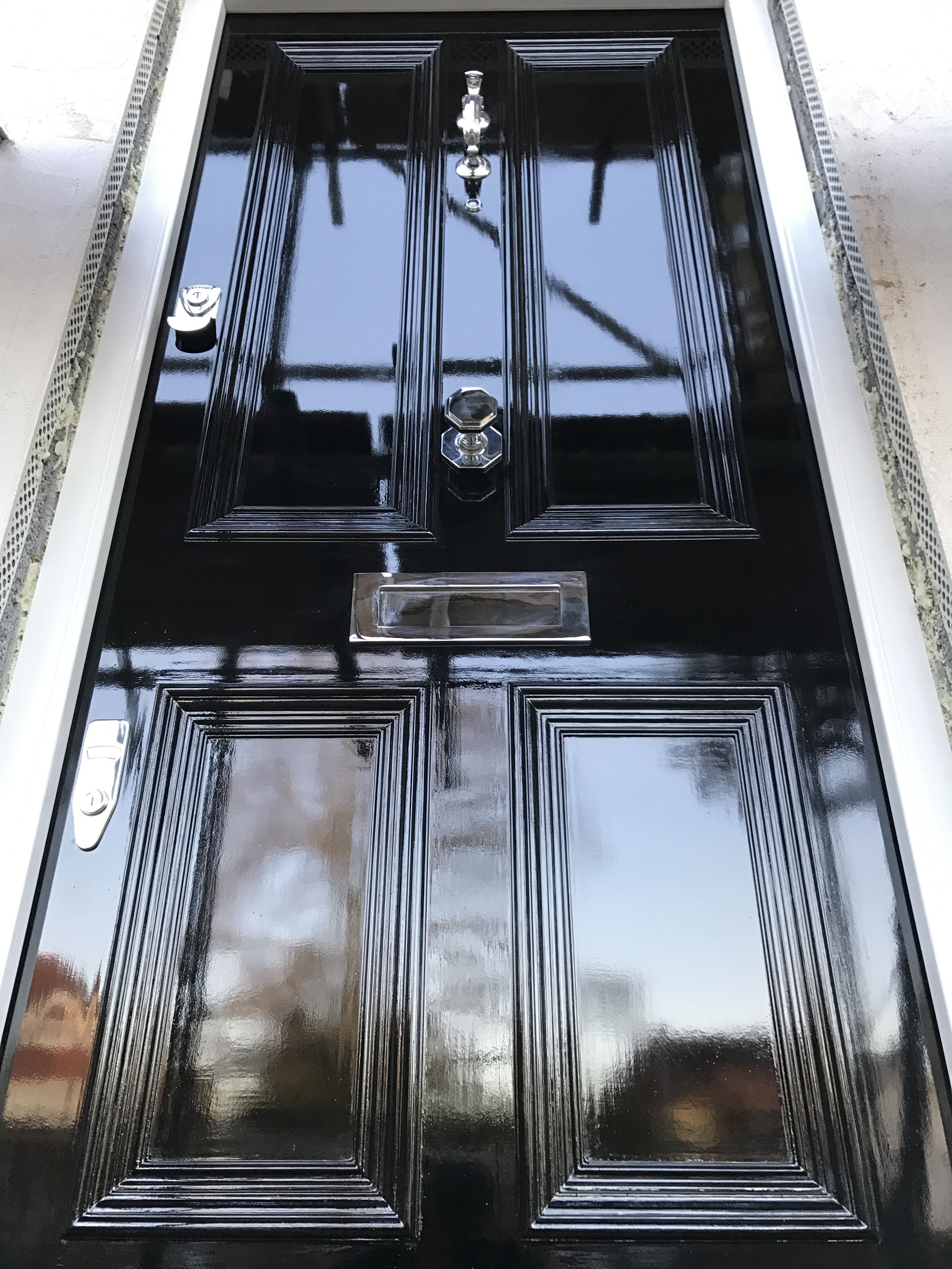Black gloss victorian doormply gorgeous knock knock victorian front door in black gloss rubansaba