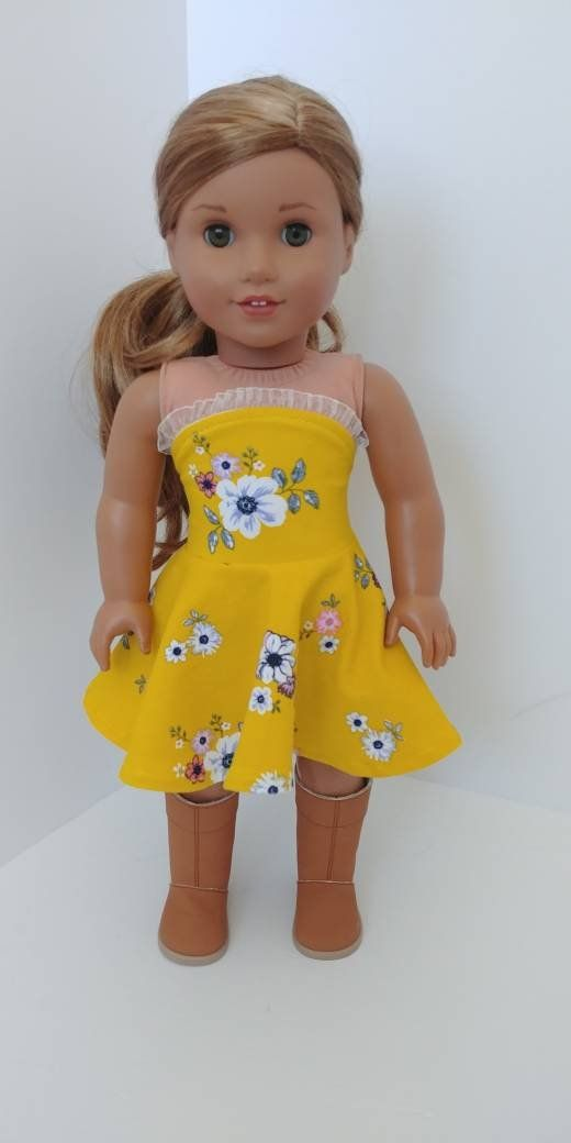 Fits like American girl doll clothing. 18 inch doll clothes. 18 inch doll clothing. Strapless dress #americandolls
