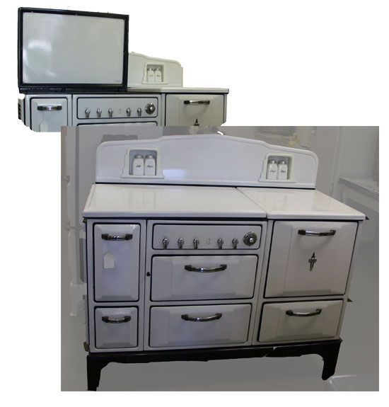Kitchen Cupboards Secunda: This 1935 White Wedgewood Stove Includes Salt, Pepper
