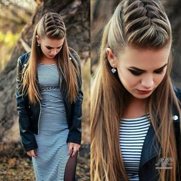 Pin By Cassandra Allan On Hair Stuff In 2018 Pinterest Cabello - Peinados-con-trenzas-y-pelo-suelto