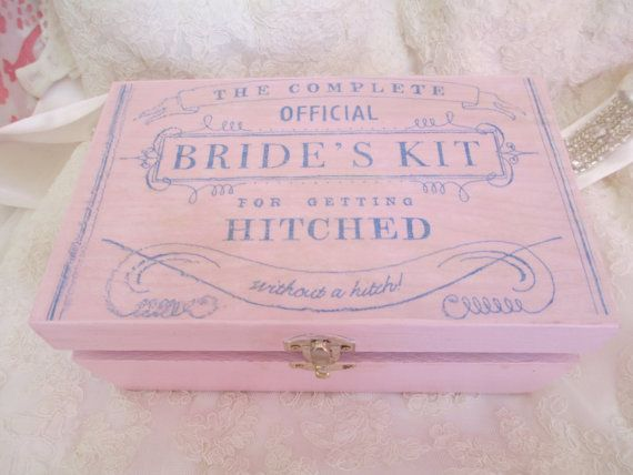 Bridal Survival kit...so cute and everything you need for the day of!!
