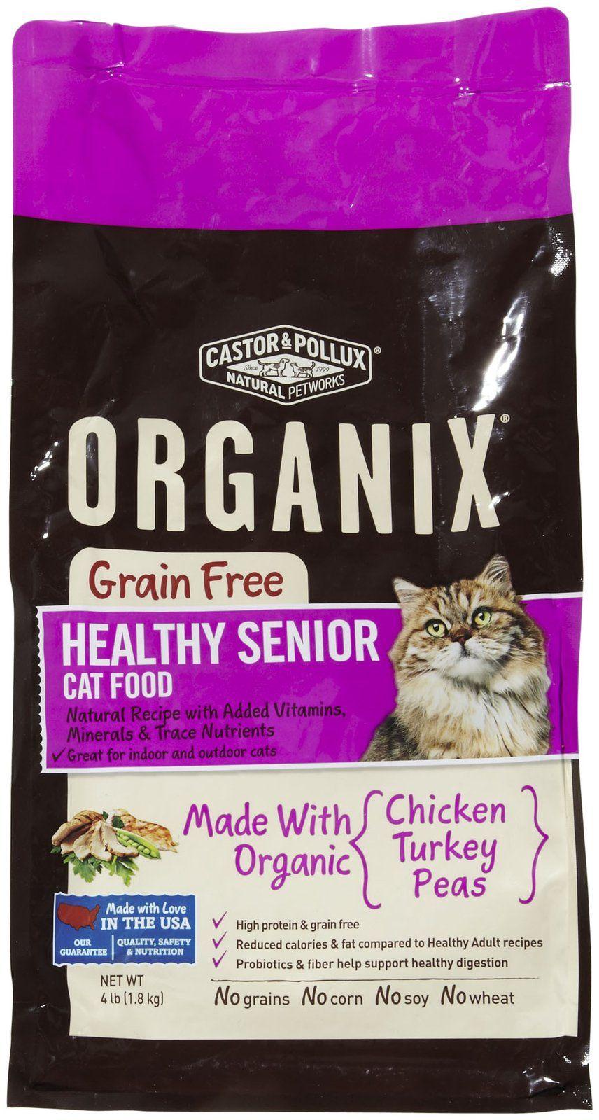 Castor Pollux Organix Grain Free Organic Healthy Senior Indoor Cat Food Indoor Cat Food Kitten Food Cat Food