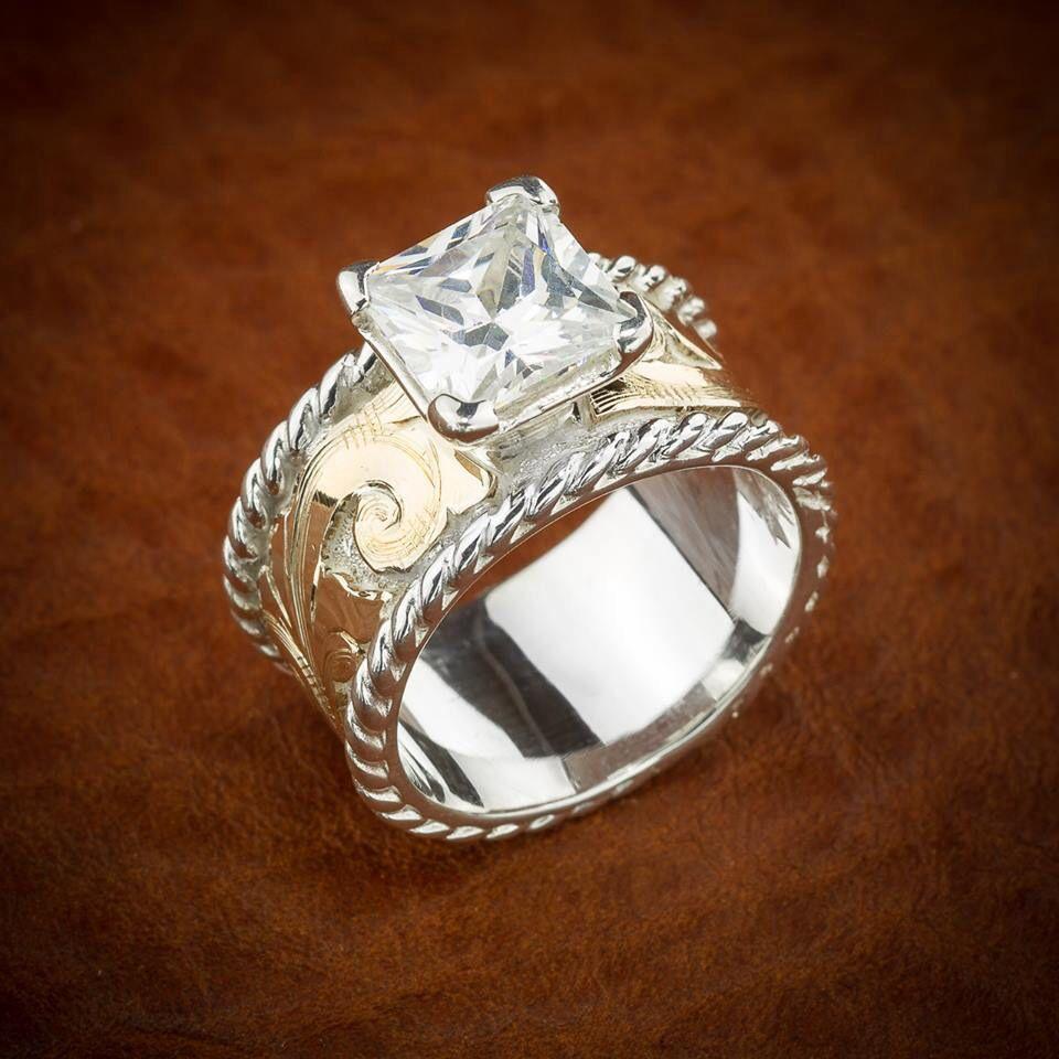 Western Style Diamond Ring: Handmade Western Style Wedding Rings At Reisefeber.org