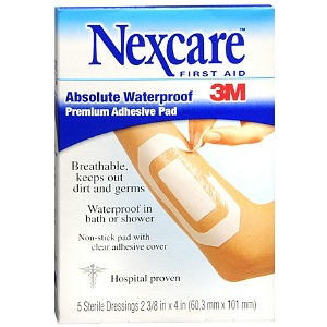"""I'm learning all about Nexcare Absolute Waterproof Premium Adhesive Pad 2 3/8"""" x 4"""" at @Influenster!"""