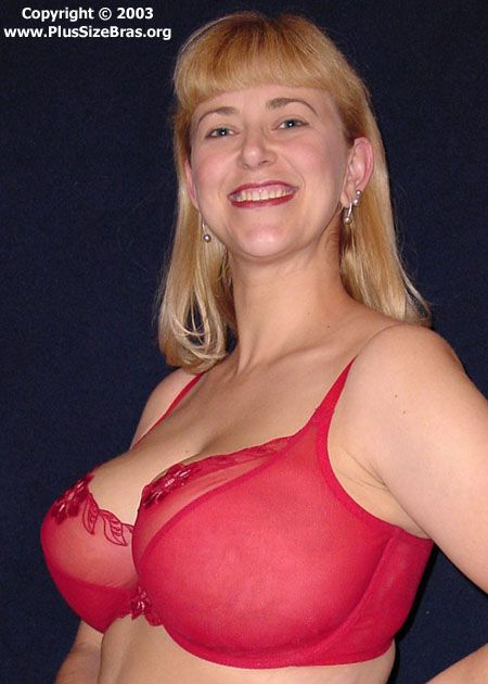 bra Busty model blonde