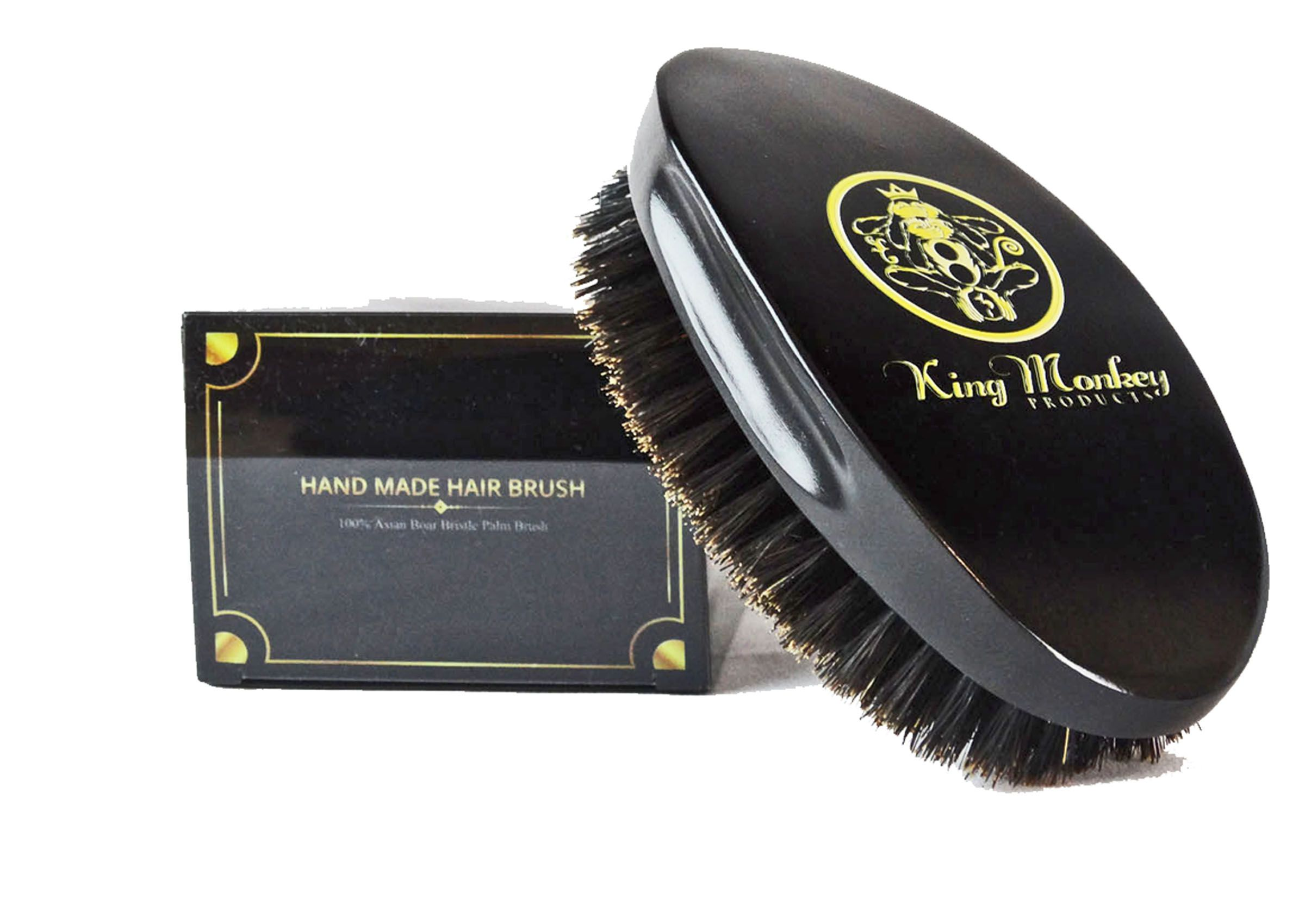 KING MONKEY PRODUCTS 1776 Natural Boar Bristle Palm Hair