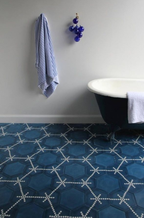 Navy Blue Bathroom Floor Tiles Tile Ideas Pinned By Chirenovation Www