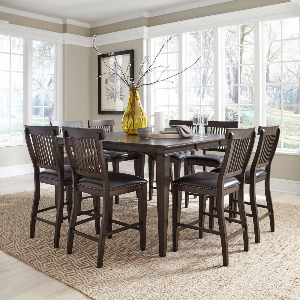 Stanton 9 Piece Dining Set Costco 1800 Dining Upholstery Counter Height Dining Sets Dining Set