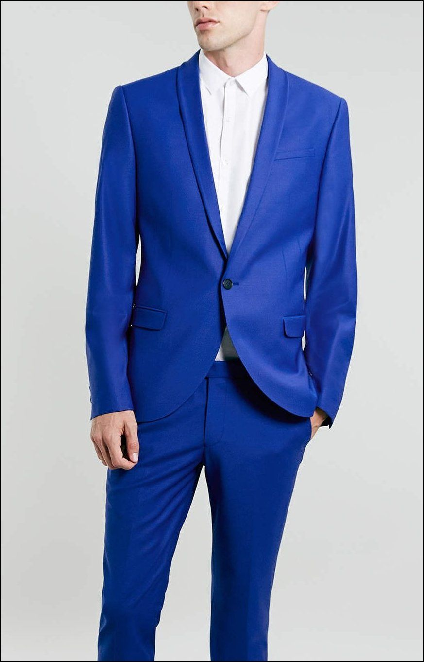 Royal Blue Suit For Men with Single Button | Men´s fashion ...