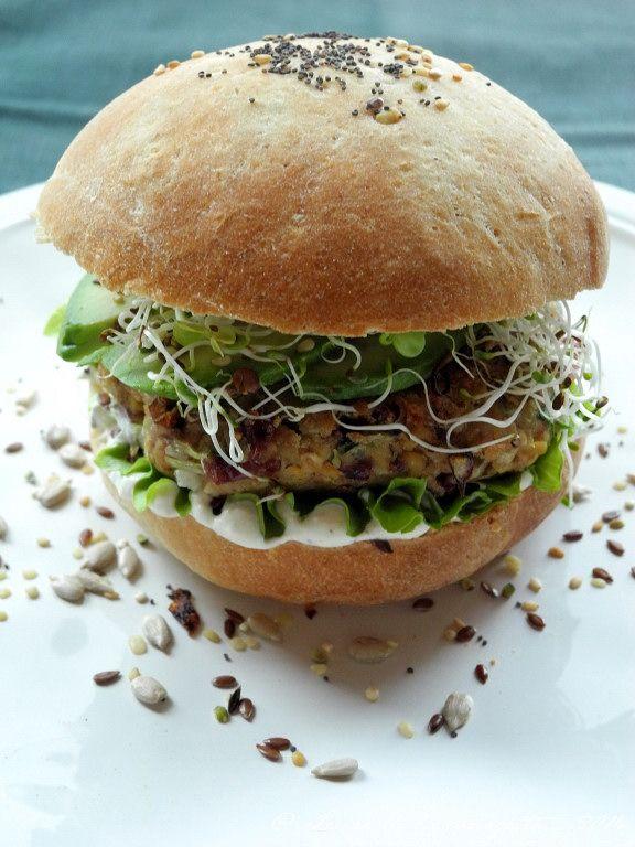 Burger Végétarien Sauce Blanche Blog De Cuisine Bio Le Cri De - Cuisine vegetarienne blog