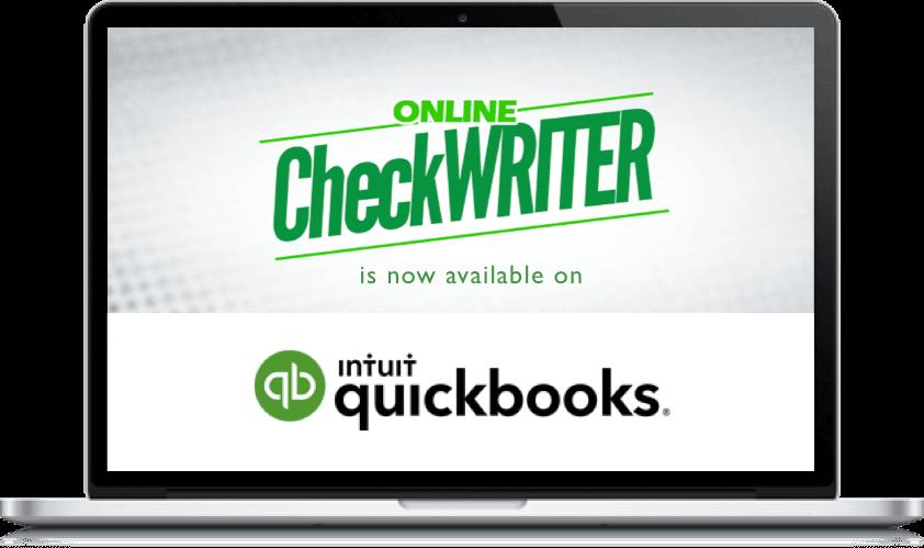 Blank check stockprint QuickBooks checks easily. Online