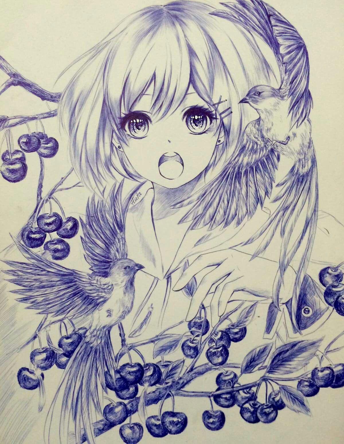 gorgeous anime girl portrait manga style - learn more about wacom