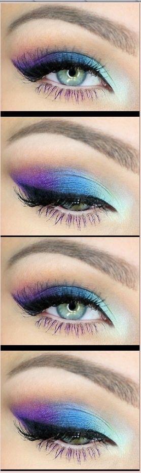 Maquillage des yeux d'inspiration style beauté bleu et violet. S'il vous plaît choisir sans cruauté ...  #beaute #choisir #inspiration #maquillage #plait #style #violet