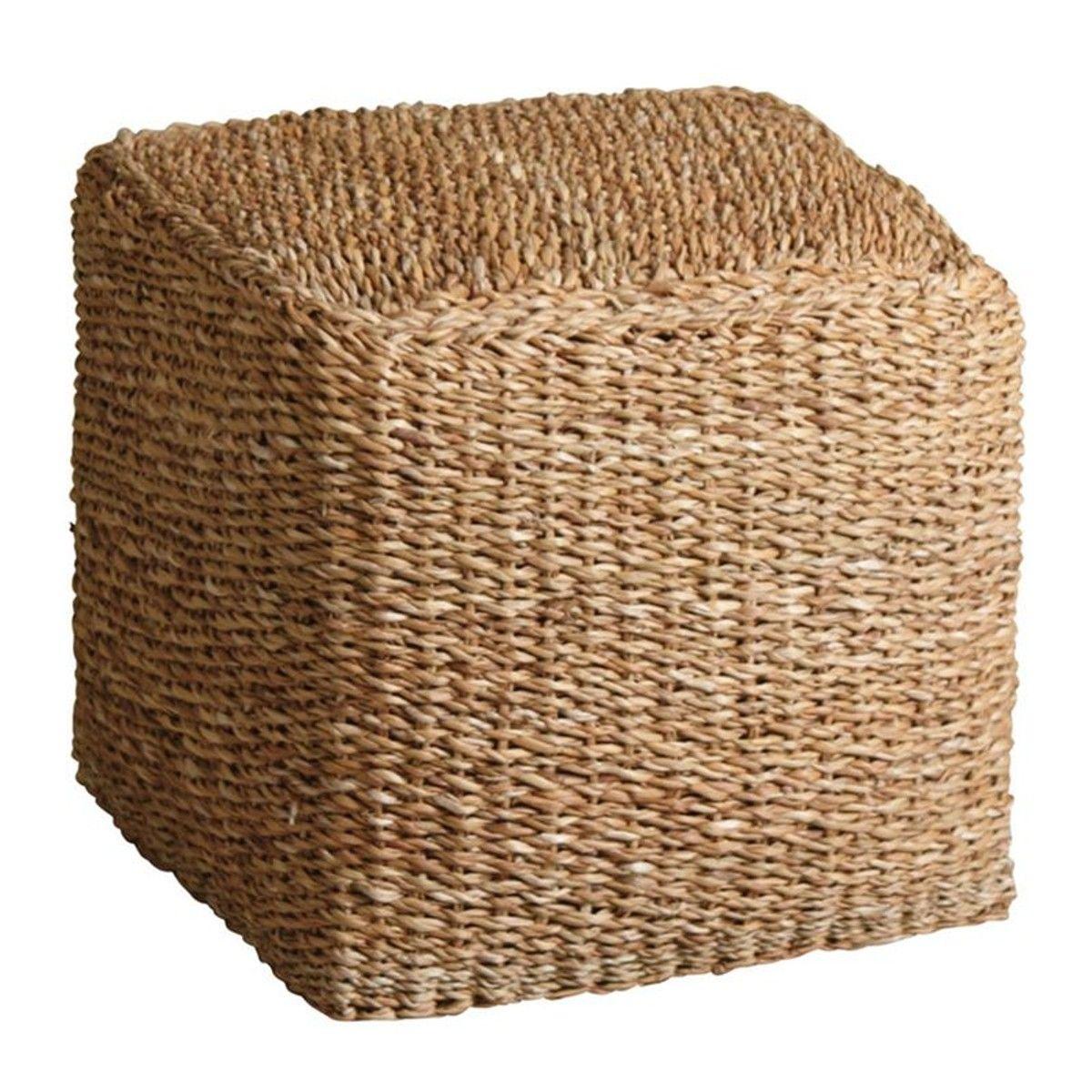 Pouf Jonc De Mer pouf carré en jonc de mer - taille : taille unique | pouf