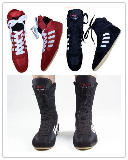 1d82fd841aacad professional wrestling shoes pro wrestling gear boxing shoes combat shoes  for men and women(China (Mainland))