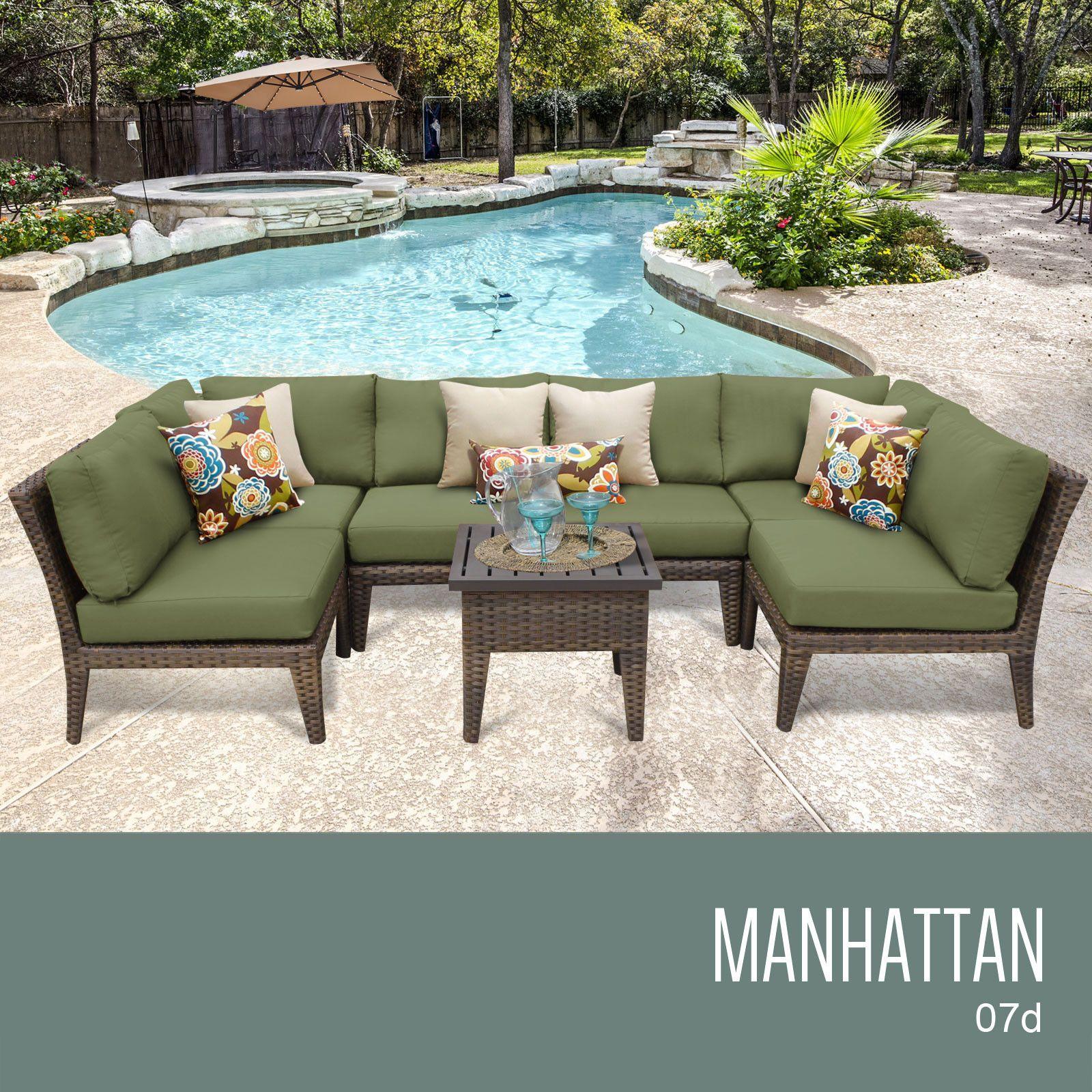 Tkc Manhattan 7 Piece Outdoor Wicker Furniture Conversation Set