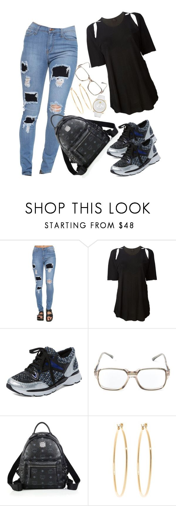 """""""..."""" by f0revermay132 ❤ liked on Polyvore featuring Lost & Found, Schutz, Yves Saint Laurent, MCM, Brooks Brothers and Movado"""