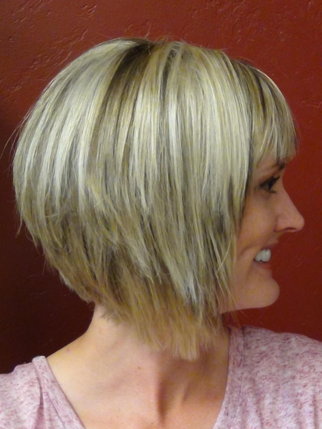 Short Stacked Haircuts With Bangs Haircuts Gallery Pinterest