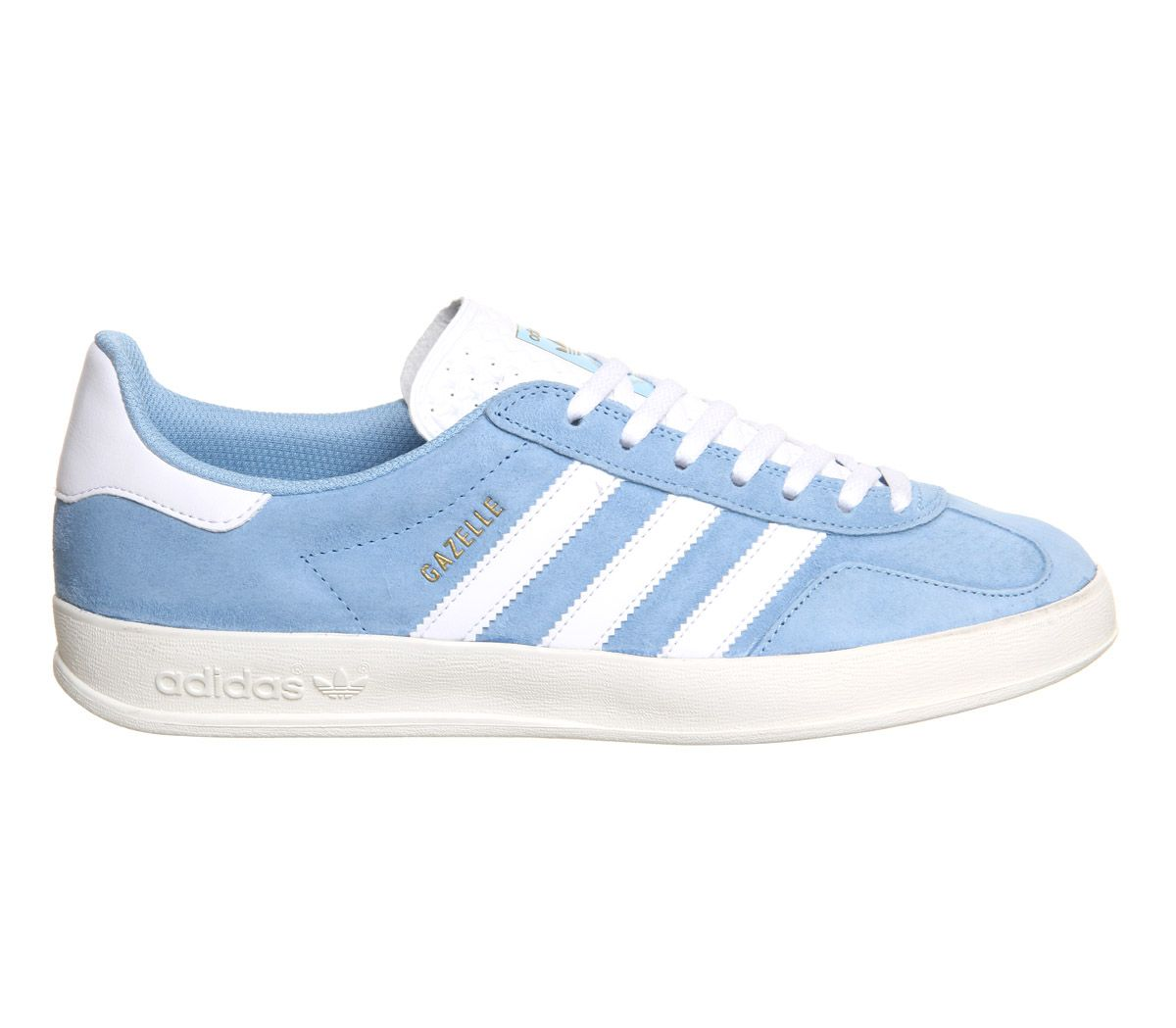 info for 32299 8ff07 Buy Clear Blue White Suede Exclusive Adidas Gazelle Indoor from  OFFICE.co.uk.