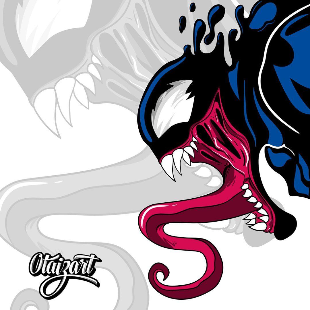 Venom Grin Vector: Venom. #Vector #dibujo #ilustración, #camiseta, #juegos
