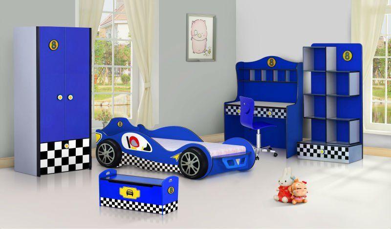 Smart Kids Bedroom Set 992 01 Racing Car Color Bedroom Furniture