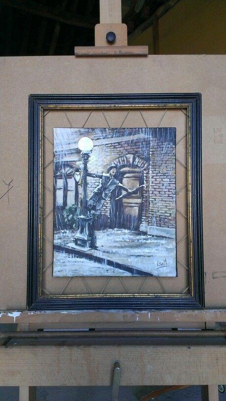 Acrilico sobre lienzo y marco reciclado