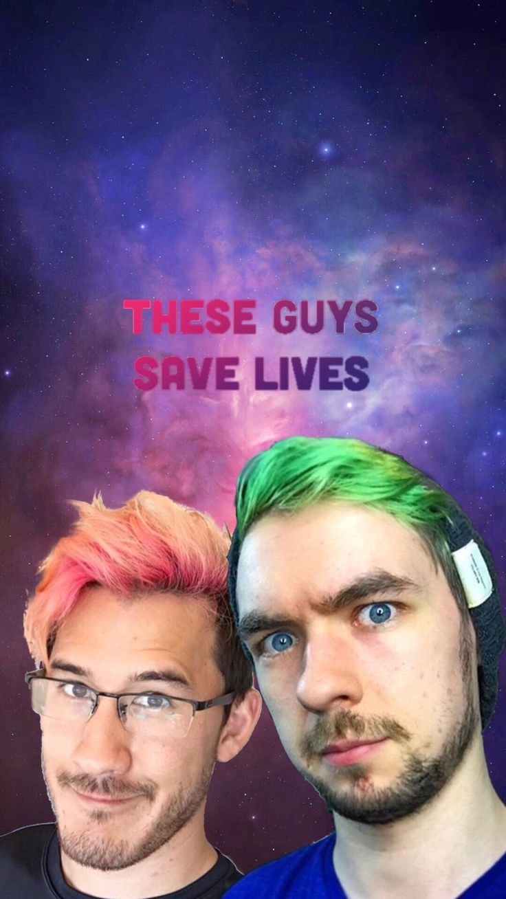 Youtube Wallpapers Here Is Your Wallpaper Maximum The Fangirl Youtubers Markiplier Jacksepticeye Wallpaper