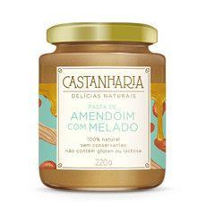 Pasta de Amendoim com Melado Castanharia.
