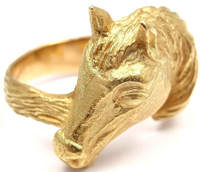 Hermes 18 karat gold horse head ring blogmrsjonesandcocom