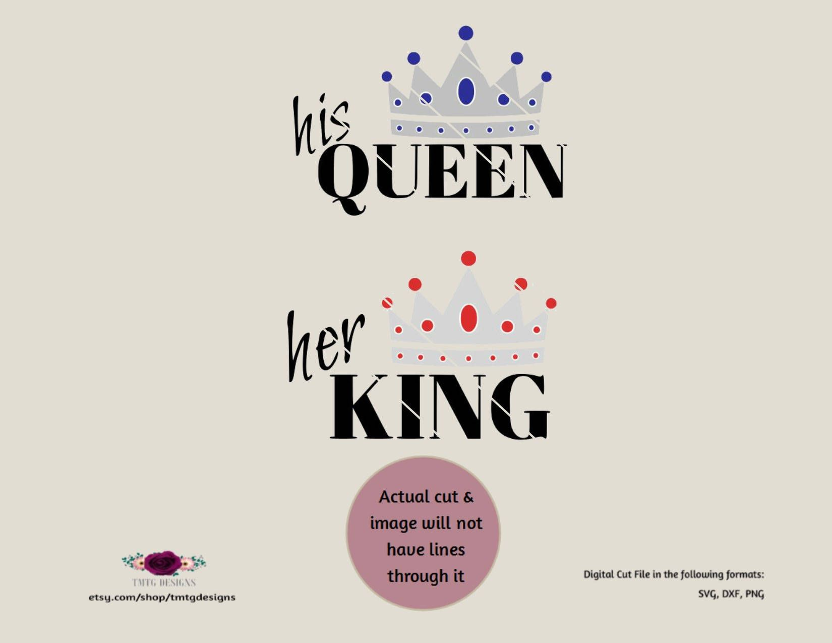 His Queen Her King Svg.Pin By Megan Gregory On Tmtgdesigns Cricut Cricut Explore Filing