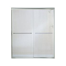 Sterling Finesse 54 625 In To 59 625 In W Frameless Silver Sliding Shower Door 5475 59s G72 Shower Doors Sliding Shower Door Frameless Sliding Shower Doors