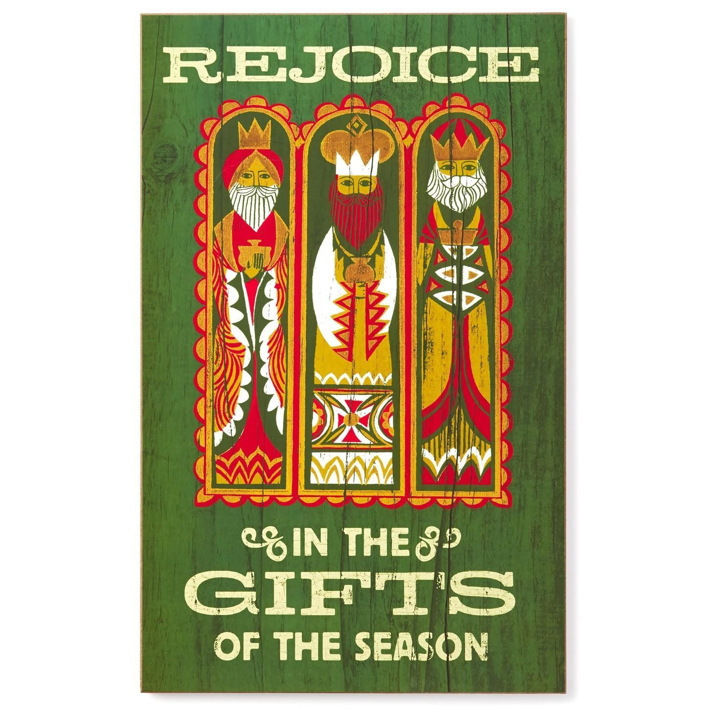 Three Kings Signs of the Season Decorative Wall Hanging