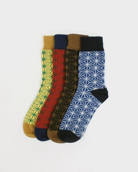 Check out these unique products by Kirikomade in Portland! Asanoha Socks, Set of 4
