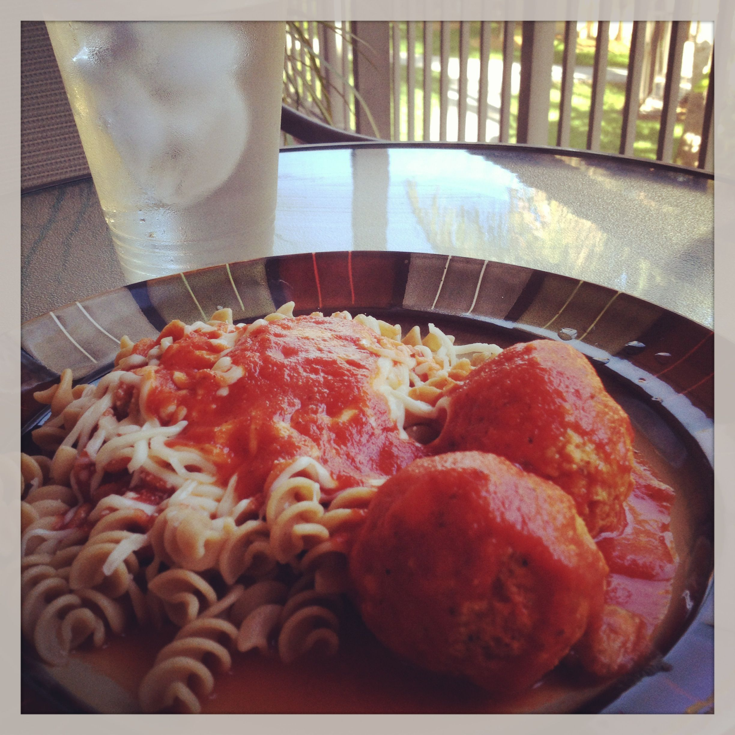 Chicken Meatballs with Whole Grain Pasta
