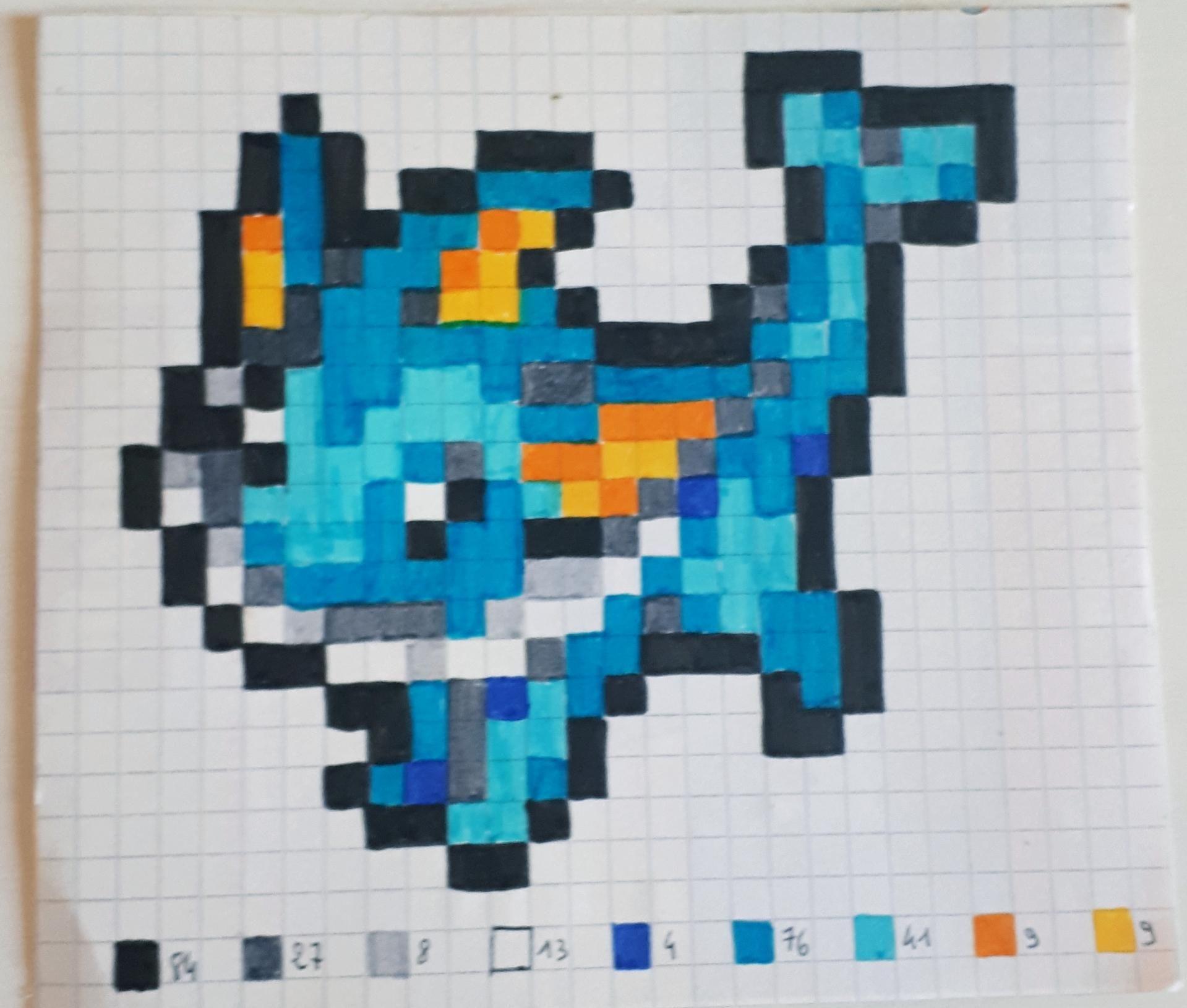 Patron Pixel Pokemon Aquali Hama Pokemon Perle Pixel