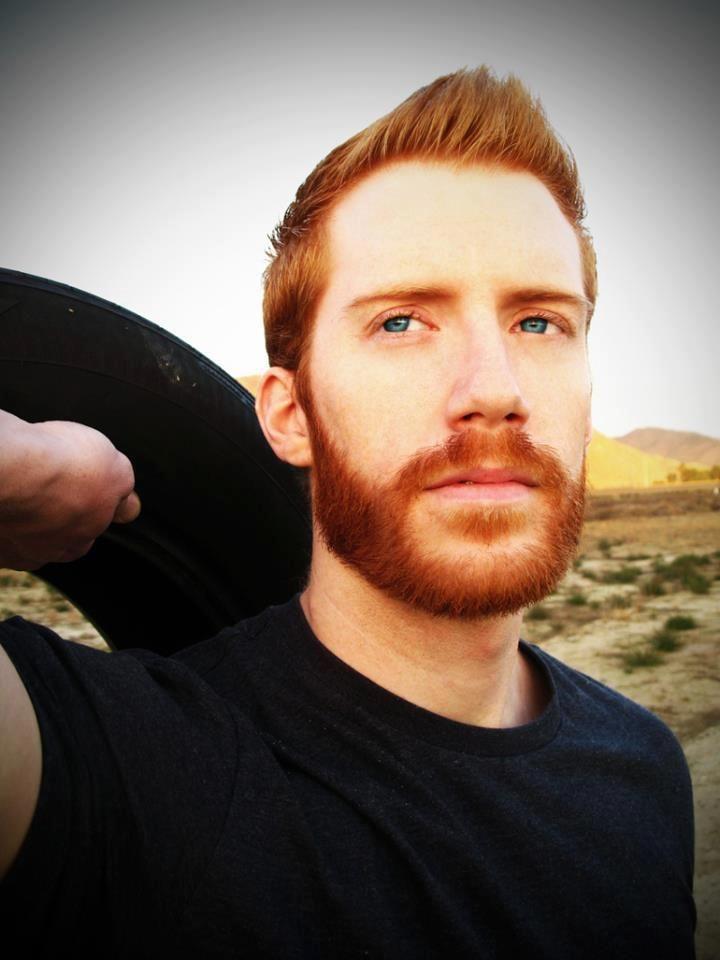 icy blue eyes redhead and beard