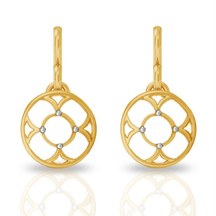 Buy Double Round Gold Earring #Double Round Gold Earring price in ...
