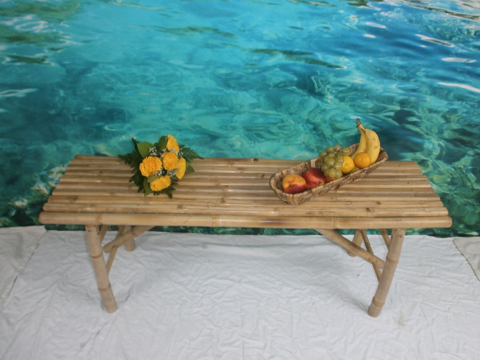 Bambus-Sitzbank Maße: 120cm x 33cm x 44cmH www.naturestyle-möbel ...