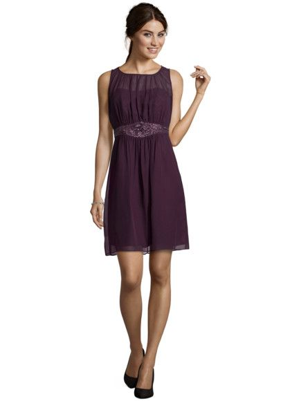 ESPRIT COLLECTION Cocktailkleid aus Chiffon mit Pailletten in Pflaume    FASHION ID Online Shop 17e452d2ac