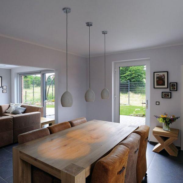 Click Licht beton pendelleuchte soprana solid grau e14 max 11w slv 0155710