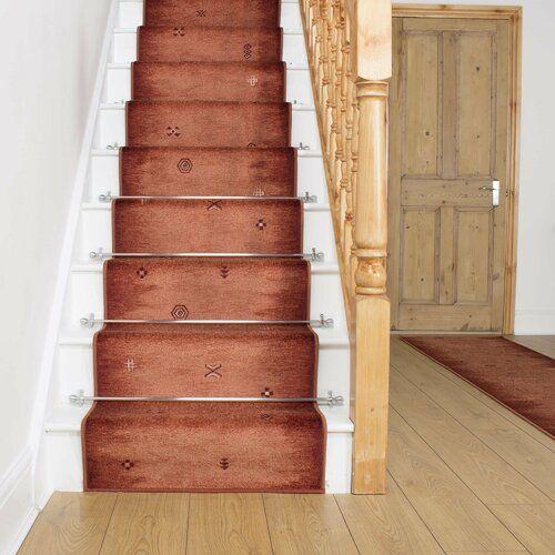 Innen-/Außenteppich Almada in Terrakotta Rosalind Wheeler Teppichgröße: Läufer, 66 cm x 540 cm #stainedwood