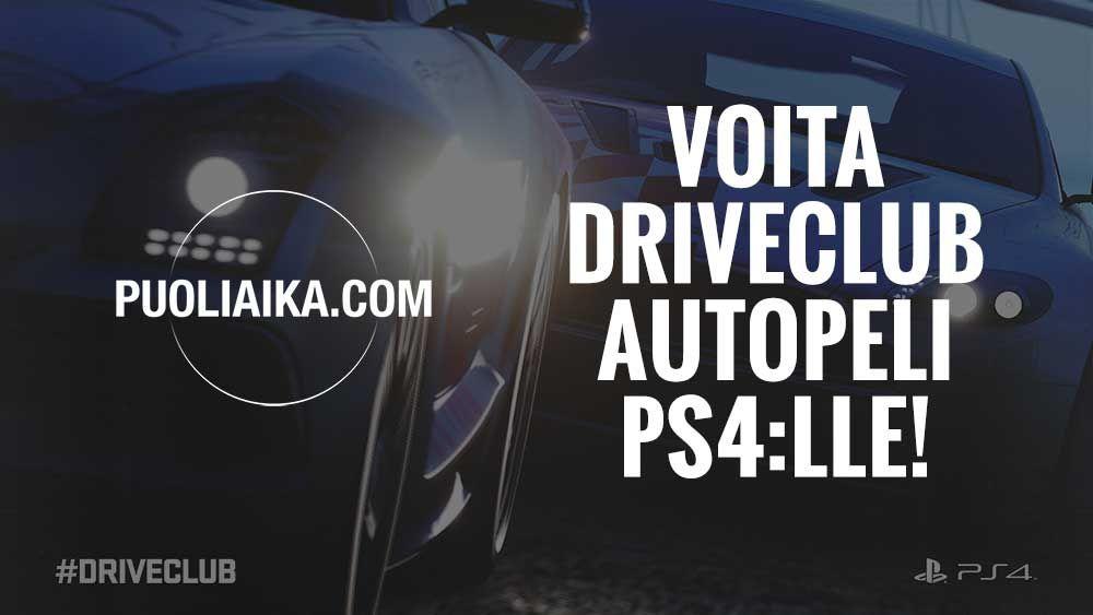 Kilpailu: Osallistu ja voita DRIVECLUB-ajopeli!  http://puoliaika.com/?p=12823 ( ##3 #autopeli #Driveclub #kilpailu #kilpailut #peli #pelit #playstation #ps4 #skaba #Vastaajavoita)
