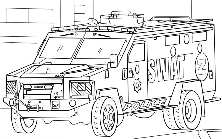 Swat Truck Coloring Pages Coloring Pages Ideas Truck Coloring