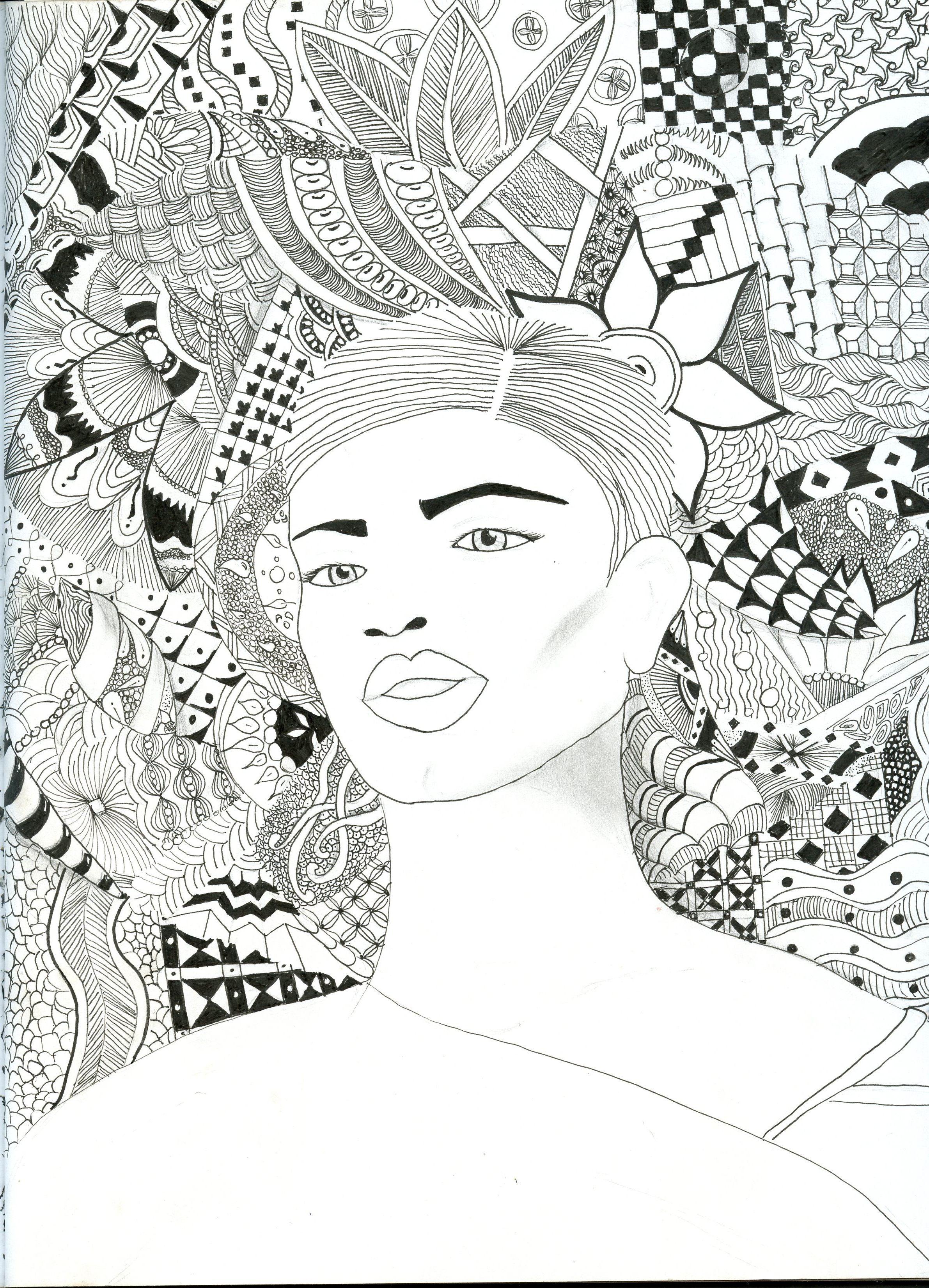 Zentangle Background Ink And Pencil Www Andreaagosto Com Tekenen