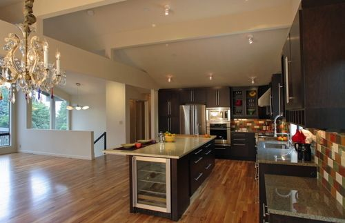 1979 Split Level Home Kitchen Remodel Has Brought To This Mid Century S Open Floorplan
