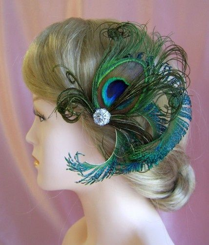 hair piece for peacock wedding maybe instead of a veil