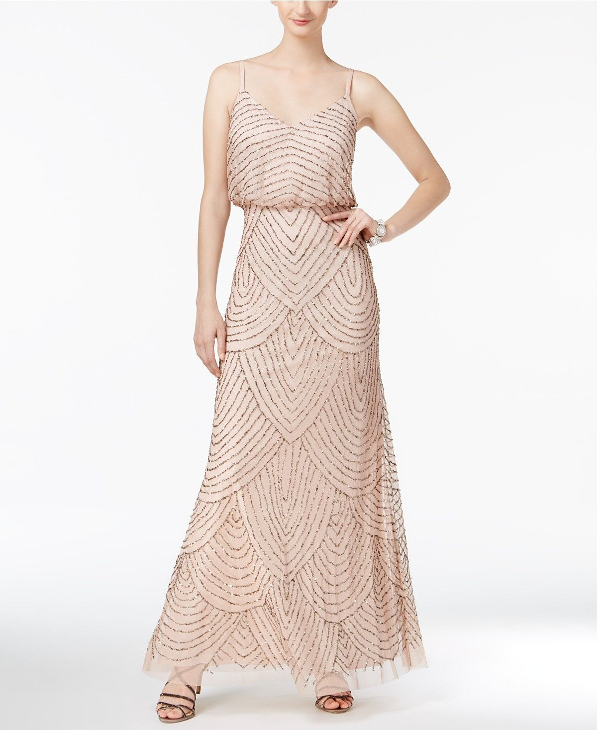 Adrianna papell beaded blouson gown adrianna papell gowns and prom