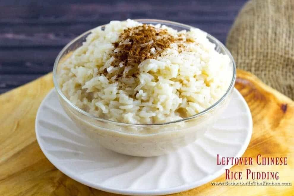 Leftover Chinese Food Rice Pudding is made from the ...