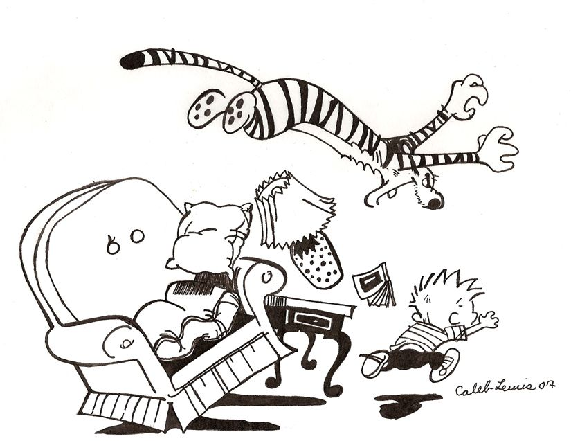 102 best Amusing Calvin and Hobbes images on Pinterest Comic - best of sonic battle coloring pages