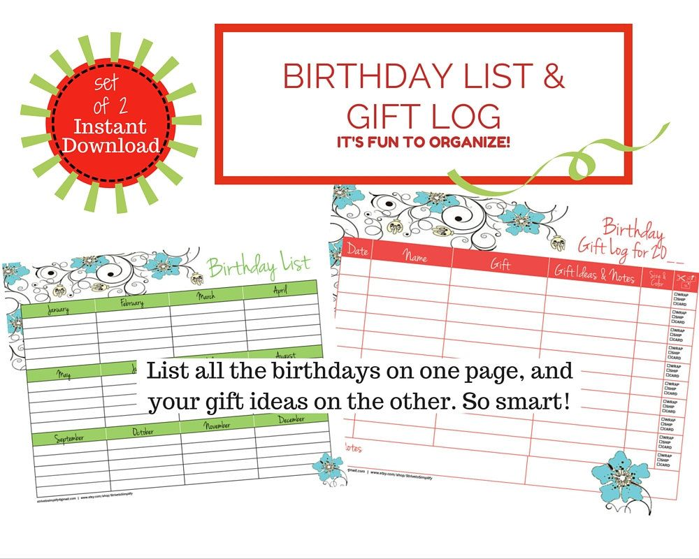birthday lists